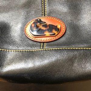 Used & unique Dooney & Bourke black leather bag